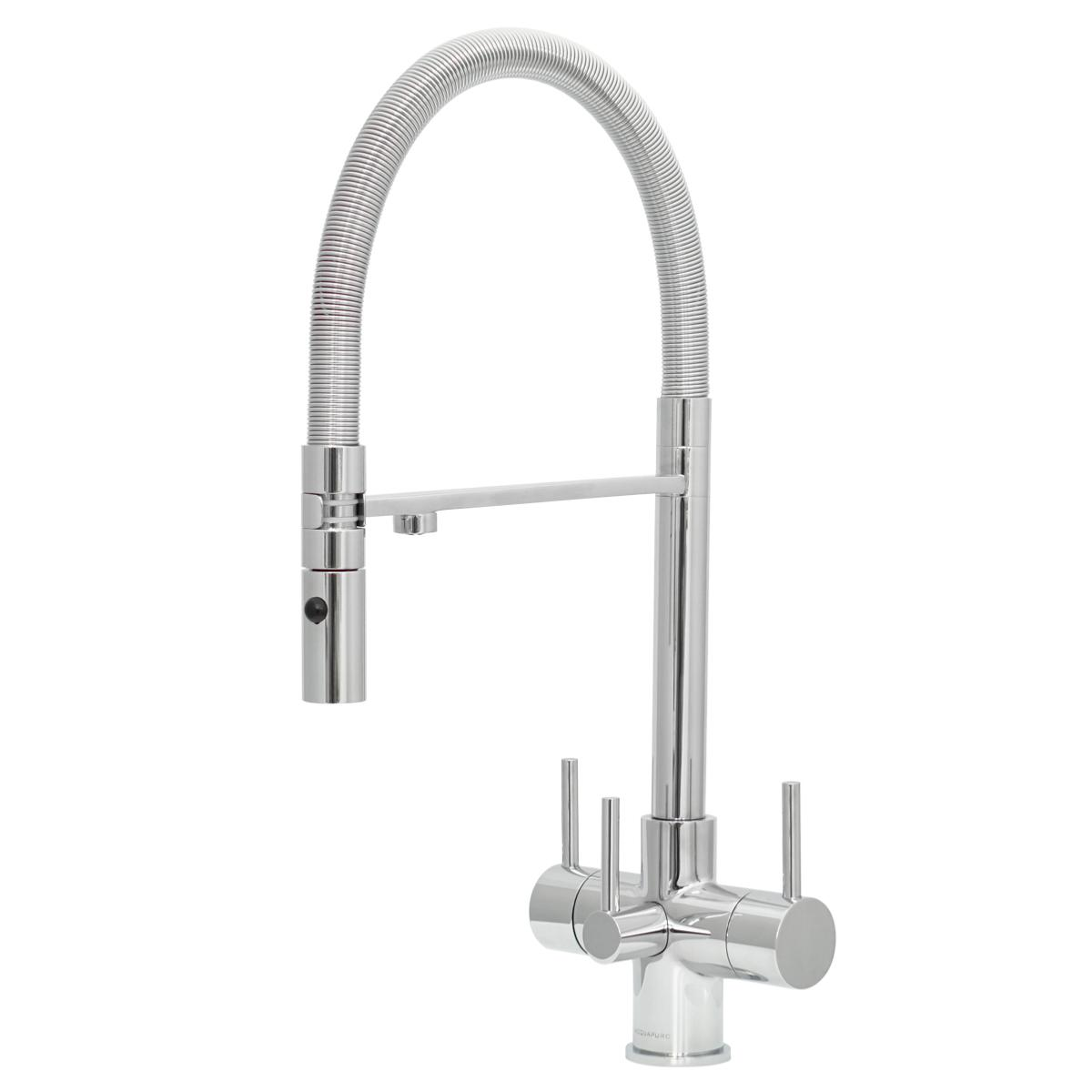 Acquapuro Aquila 3-Way 3 Lever Spray Filter Tap Chrome