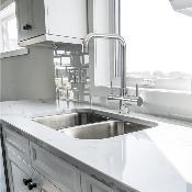 Monza 2 Lever, 3 Way Kitchen Tap Chrome