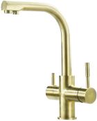 Alabama 3-Way Kitchen Filter Tap Brushed Brass