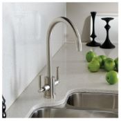 Abode Atlas Aquifier 3-Way Kitchen Filter Tap Brushed Nickel