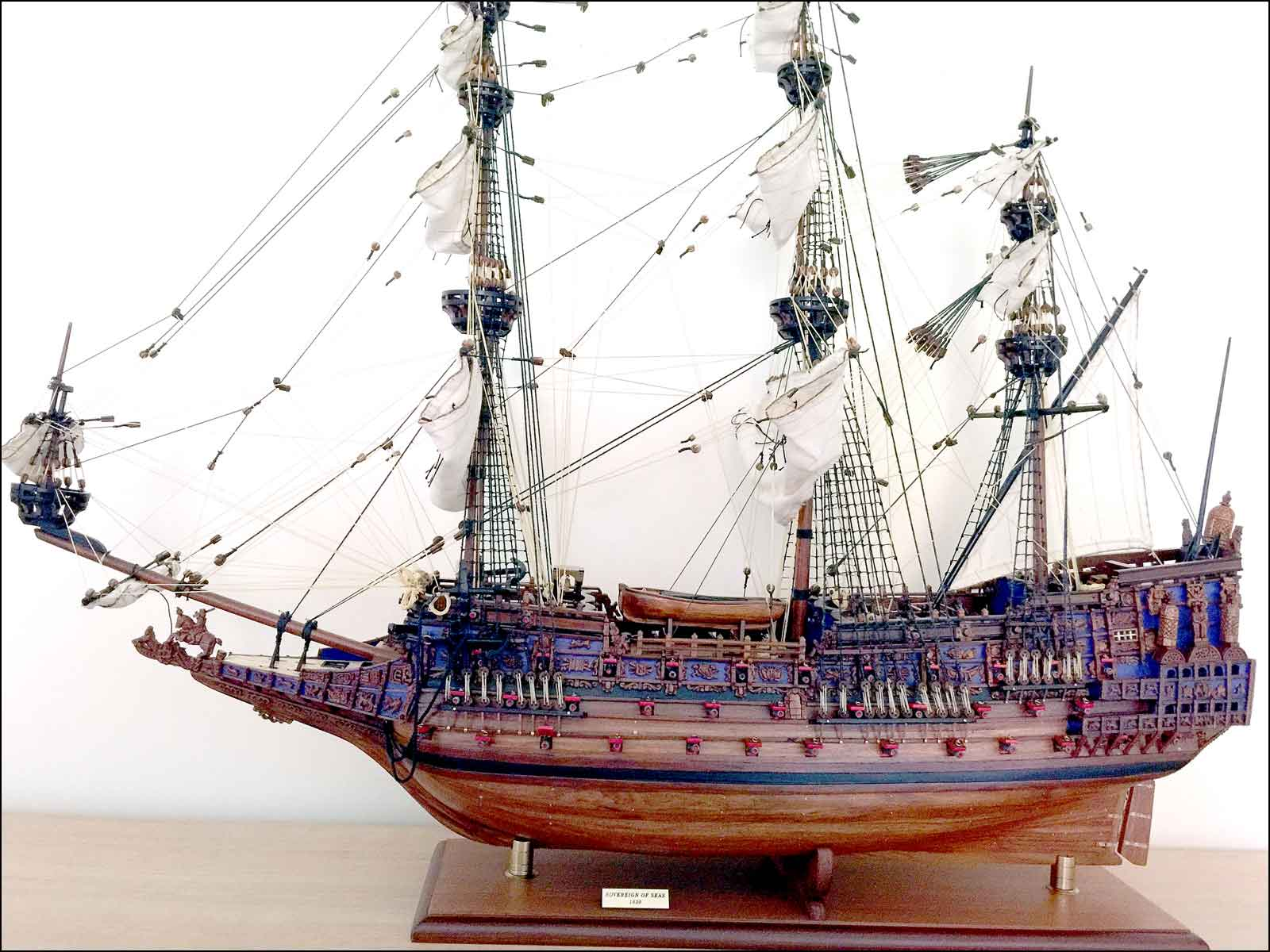 Sovereign of Seas Ship Model (1638 GB)|Large Size