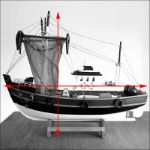 wooden fishing boat model