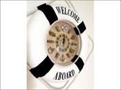 Nautical Wall Clock In Blue
