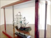 Sovereign of Seas Ship Model in Display Case|Miniature Size