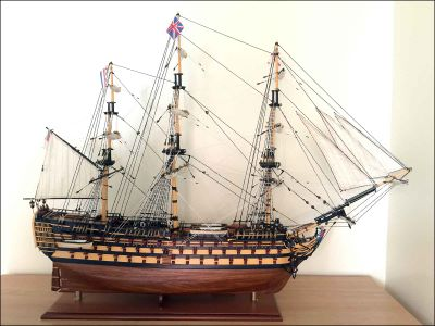 HMS Victory Ship Model|Large Size|Sails Closed