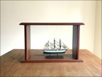 Gorch Fock Ship Model in Display Case|Miniature Size