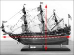 WASA handmade wooden ship model