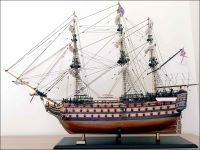 HMS Victory Ship Model|Large Size|Sails Closed|Salmon