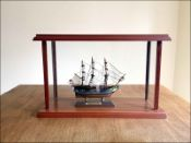 HMAV Bounty Ship Model in Display Case|Miniature Size