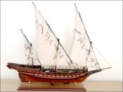Chebec Ship Model (1700's)|Medium Size