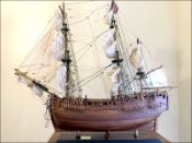 Cook's Endeavour Ship Model (1768 GB)|Large Size|Varnished
