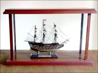 HMS Victory Ship Model in Display Case|Miniature Size
