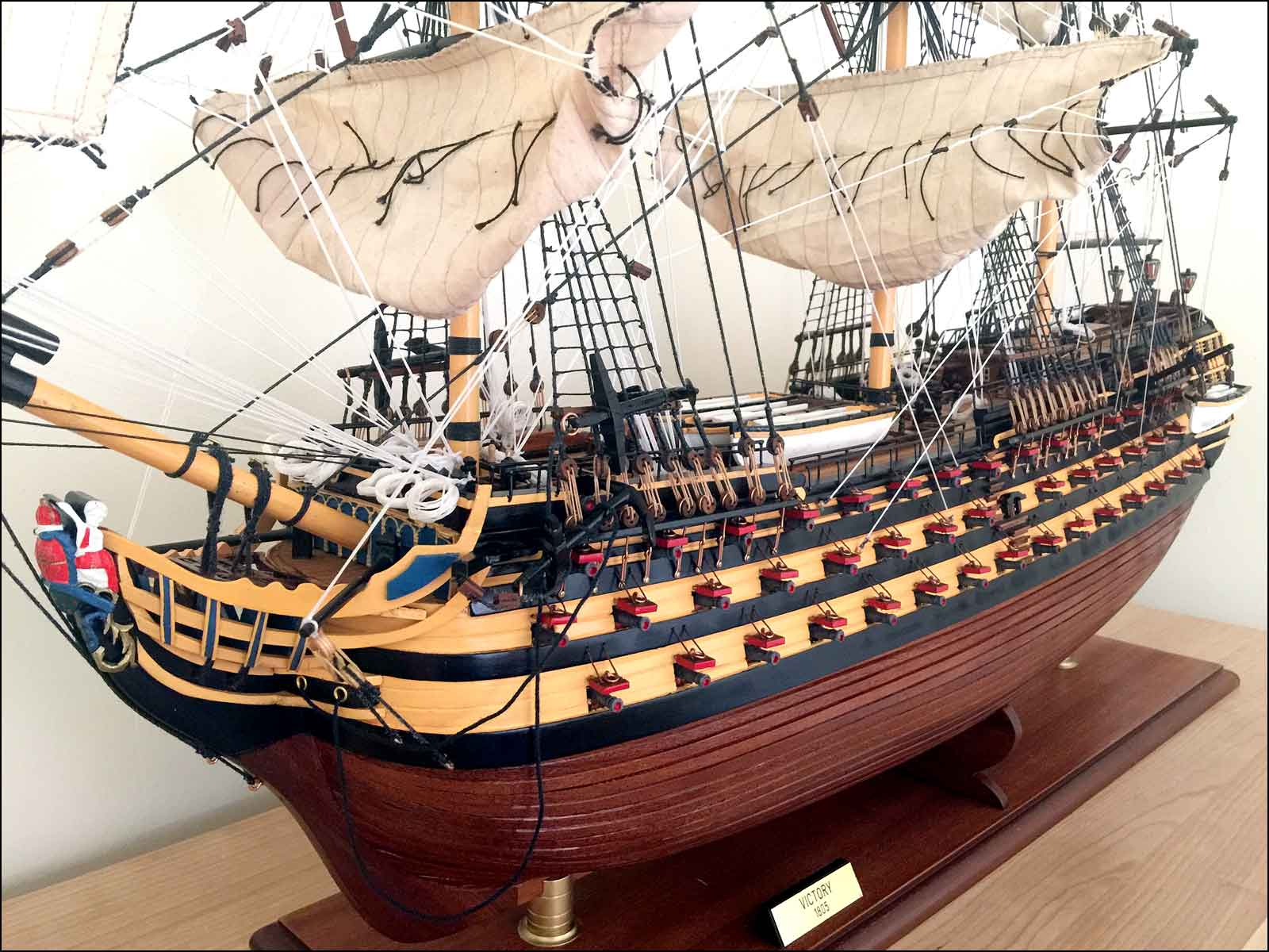 completed model of HMS Victory first rate