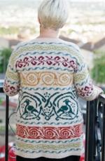 Celtic Birds Cardigan by Deborah Cowell