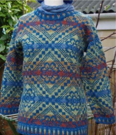 Flower Carpet Sweater by Deborah Cowell