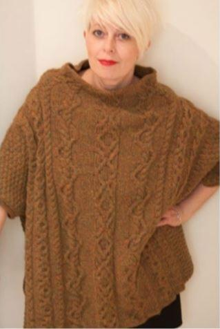 Heather Poncho by Deborah Cowell