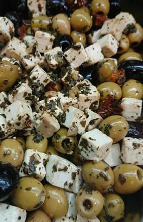 Melange olives fêta