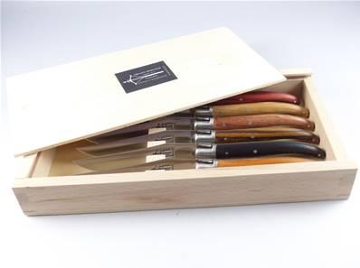 6 couteaux de table Laguiole bois précieux G.David