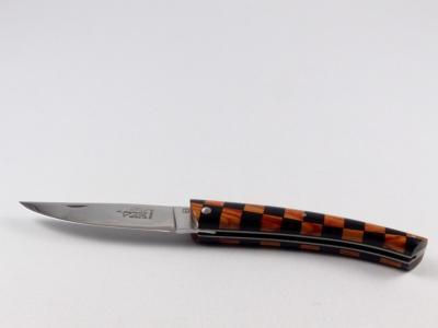 Couteau Le THIERS 12cm plein manche marqueterie