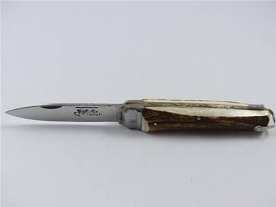 Couteau de chasse l'HALLALI manche cerf