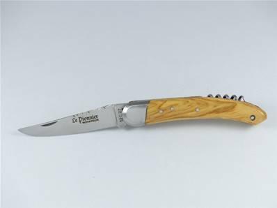 Couteau pliant tire-bouchon PIONNIER Novateur olivier
