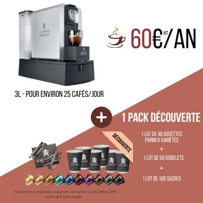 Pack 1 : Machine à café Compact pro 3 litres + 240 capsules Location
