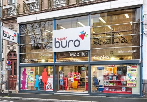 La devanture du magasin Hyperburo Clermont-Ferrand centre ville