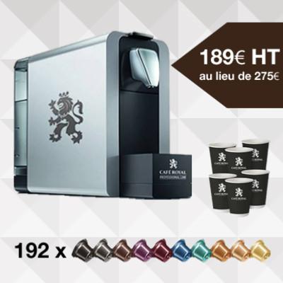 Pack 2 : Machine à café Compact pro 1 litre + 192 capsules