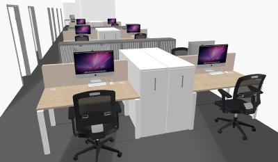 Le plan 3D avec Hyperburo, voir votre futur mobilier de bureau en action