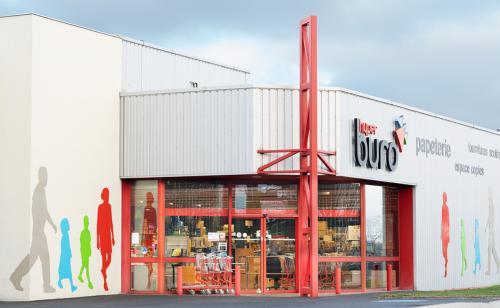 La devanture du magasin Hyperburo Clermont-Ferrand Aubière