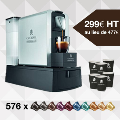 Pack 1 : Machine à café Compact pro 3 litres + 576 capsules