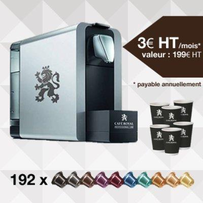 Pack 1 : Machine à café Compact pro 1 litres + 192 capsules Location