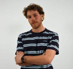 N°4 - Camiseta a rayas azul algodón orgánico