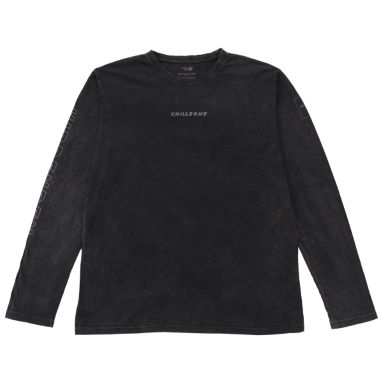 N°5 CHILLZONE - Faded black long sleeve t-shirt organic cotton