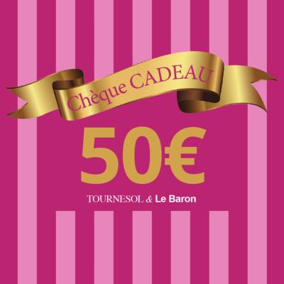 Chèque Cadeau Tournesol - 50€