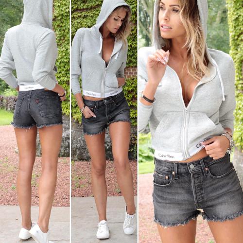 Sweat-shirt à capuche zippé - Modern Cotton