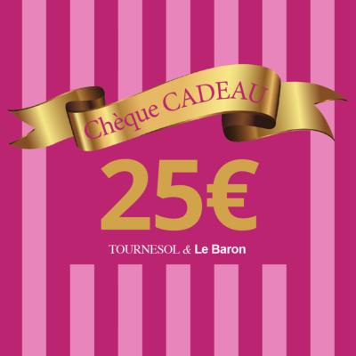 Chèque Cadeau Tournesol - 25€