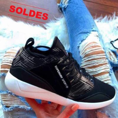 Sneakers Superdry noir marbré