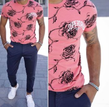 T-shirt ROSES Superdry