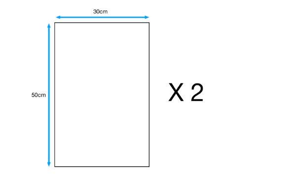 2 Contreplaqué peuplier, Ep.5 mm L.50 x l.30 cm