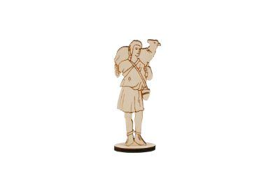 """Wooden Statue of the Good Shepherd 12 cm / 5"""""""