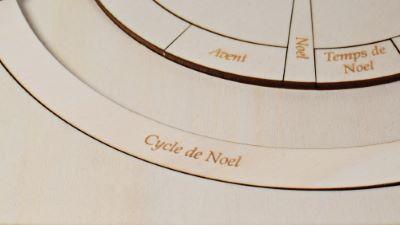 Calendrier liturgique gravé