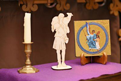 """Wooden Statue of the Good Shepherd 20 cm / 8"""""""