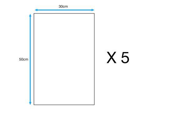 5 Contreplaqué peuplier, Ep.5 mm L.50 x l.30 cm
