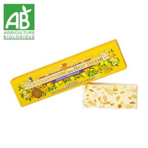 Nougat Ecorces d'Orange et Citron BIO étui 120 gr