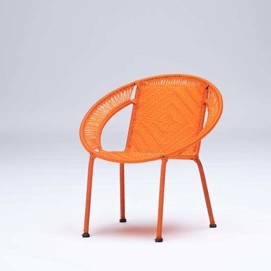 Fauteuil enfant orange