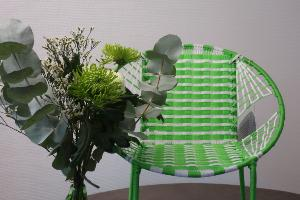 Fauteuil enfant vert et blanc