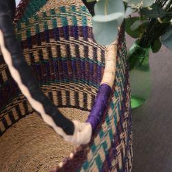 Panier Awa coloré violet et bleu