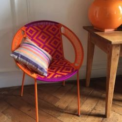Fauteuil medium orange et fushia