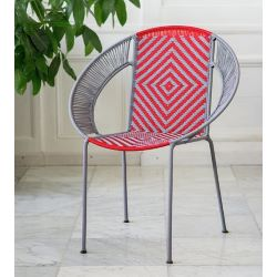 Fauteuil CALAO Kanimambo gris et rouge